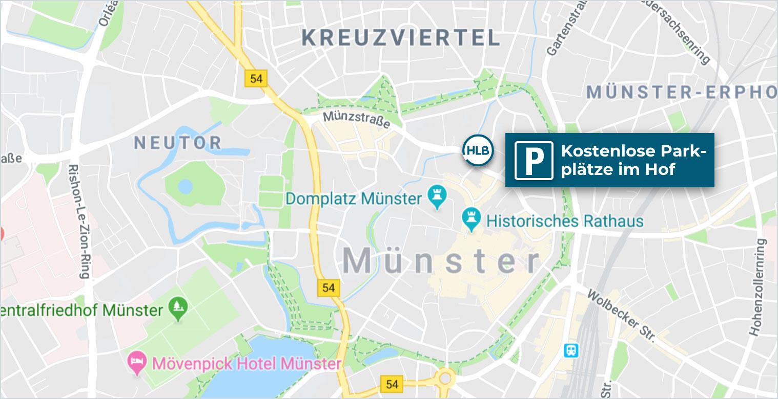 Anfahrt HLB Schumacher Hallermann Münster Rechtsberatung
